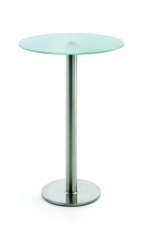 stehtisch bistrotisch in edelstahl geb rstet rund 70 cm glas 10 mm klarglas oder satiniert. Black Bedroom Furniture Sets. Home Design Ideas