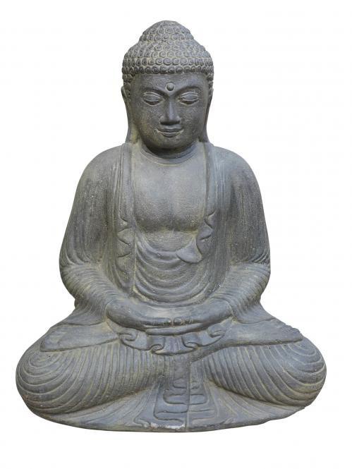 Xl Buddha 52 Cm Steinguss Gartendeko Japanischer