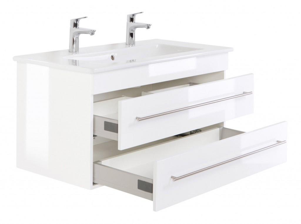 badm bel waschtisch villeroy boch venticello waschbecken 100 cm doppel weiss hochgl bad m bel. Black Bedroom Furniture Sets. Home Design Ideas