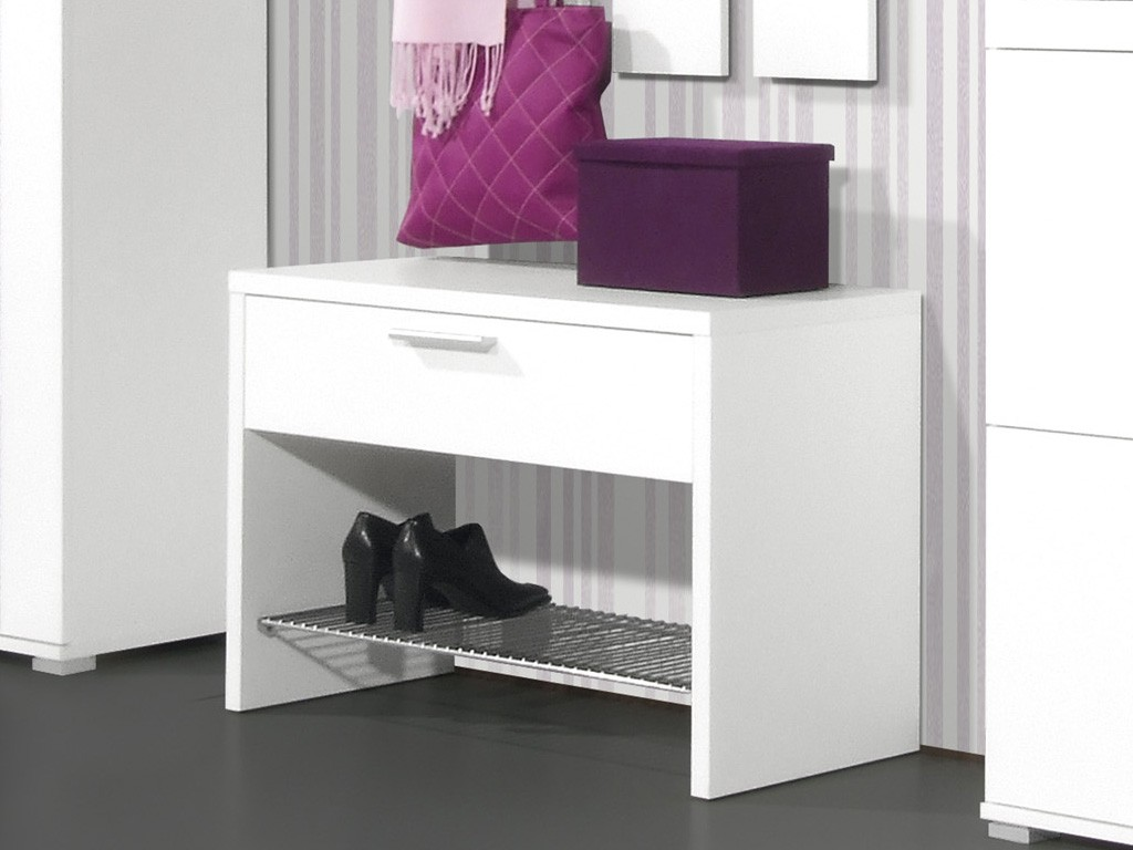 prima schuhbank schuhregal f r garderobe in wei 75 x 50 x 35 diele flur garderobe. Black Bedroom Furniture Sets. Home Design Ideas