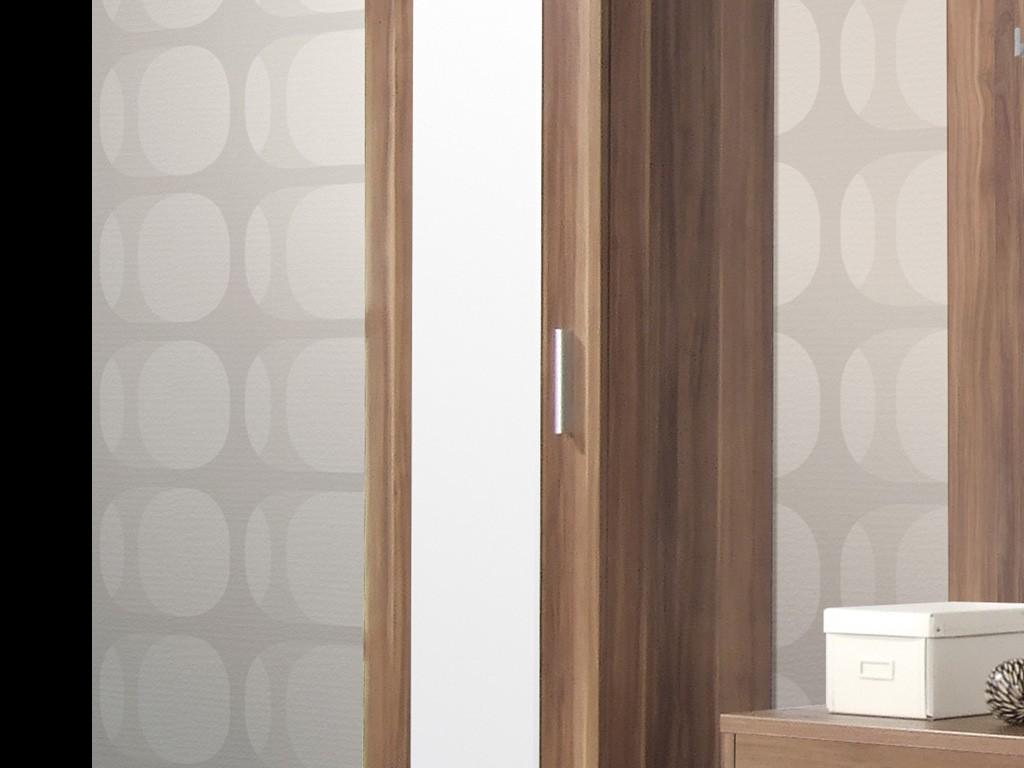 Medina kleiderschrank f r garderobe in walnuss 55 x 200 x for Garderobe 80 x 200