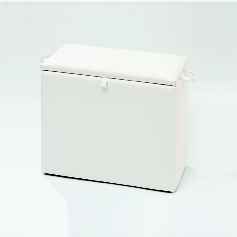 necke valentina w schetruhe w schebox truhe mit stauraum in weiss 80 x 80 x 39 kleinm bel. Black Bedroom Furniture Sets. Home Design Ideas