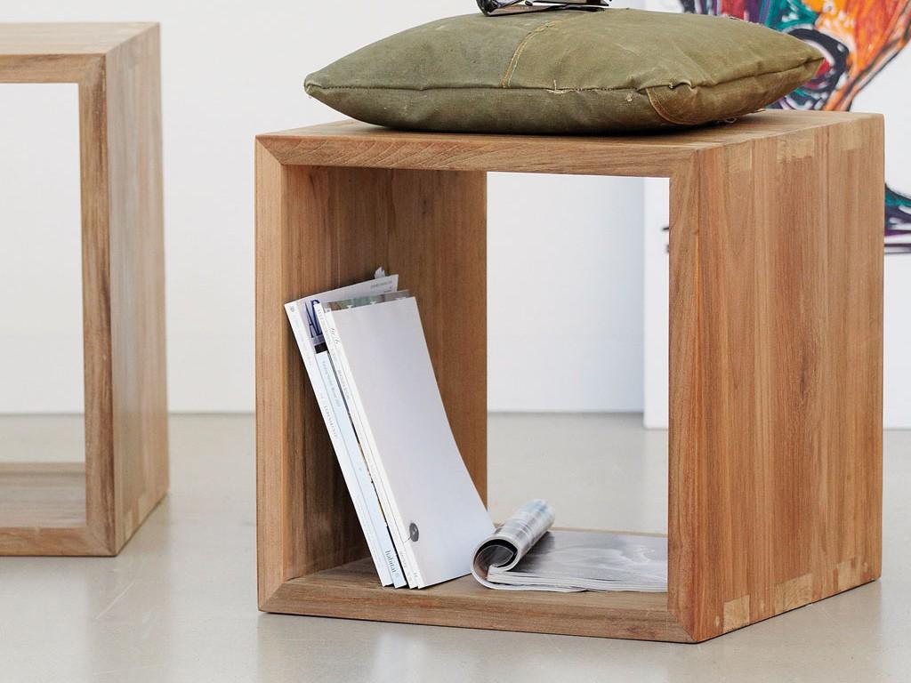 jan kurtz ultimative w rfel in teak recycelt 42 x 42 x 42 wohnzimmer regale regalw rfel. Black Bedroom Furniture Sets. Home Design Ideas