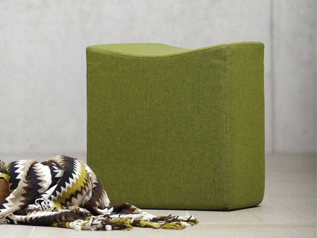Jan Kurtz SNAKE Sitzwürfel in Stoff grün, schwarz, rot oder petrol ...