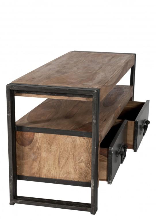 lowboard tv board konsole kommode panama metall massivholz sheshame wohnzimmer tv unterschrank. Black Bedroom Furniture Sets. Home Design Ideas