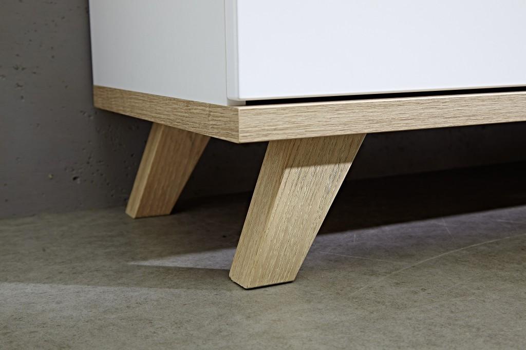 lowboard tv board kommode anrichte sideboard norway 2 t ren in wei eiche 144 x 49 x 40 diele. Black Bedroom Furniture Sets. Home Design Ideas